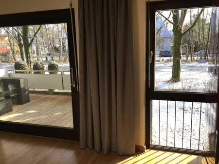 Nymphenburg-Gern, 2-Zi-EG-Balkon-Wohnung, möbliert, BEFRISTET in Neuhausen (München)