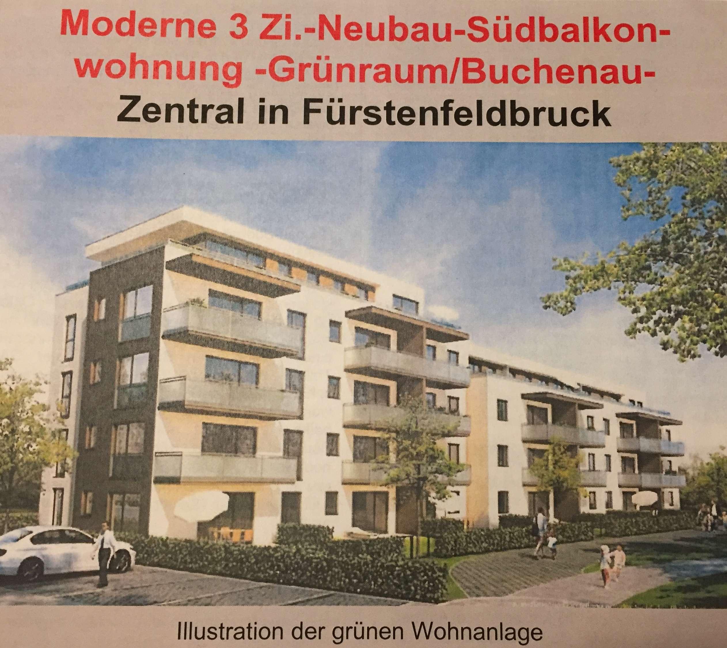 Stilvolle, neuwertige 3-Zimmer-Wohnung mit Balkon und EBK in Fürstenfeldbruck in