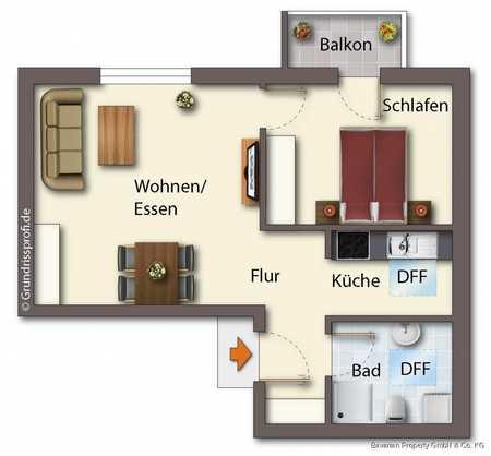2-Zimmer-Dachgeschosswohnung mit Balkon in Kernstadt (Straubing)