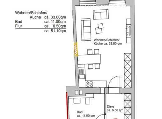 Exklusive, modernisierte 1,5-Zimmer-Wohnung mit EBK in Stuttgart