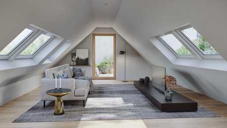 Helle Maisonette-Neubauwohnung mit Dachterrasse direkt am Englischen Garten in Schwabing (München)