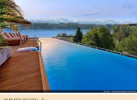 Beste Adresse: Bauhaus-Villa mit Weitblick-Infinity-Pool
