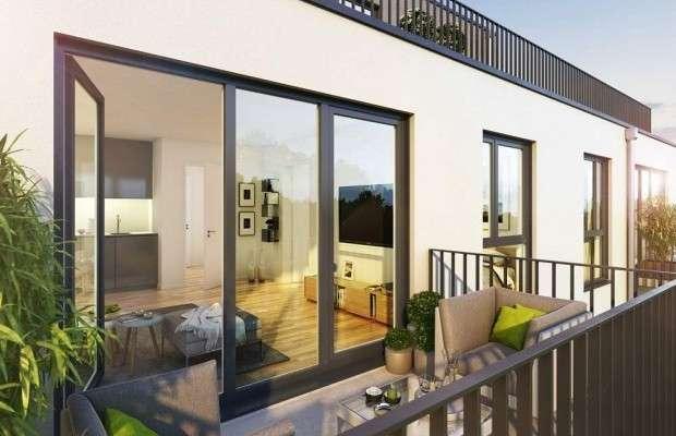 3-Zimmer-Wohnung mit Südbalkon und Einbauküche - ERSTBEZUG - in