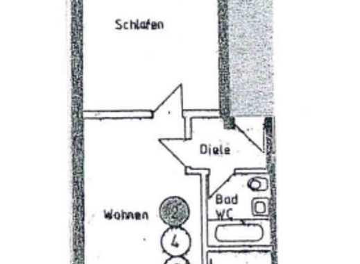 Helle, gemütliche 2-Zimmer Wohnung mit Balkon und Stellplatz
