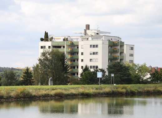 Helle 2 Zi. Etw. 5.OG 60m² mit Aufzug, Loggia, Stellpl., in ruhiger Lage in Katzwang direkt am Kanal