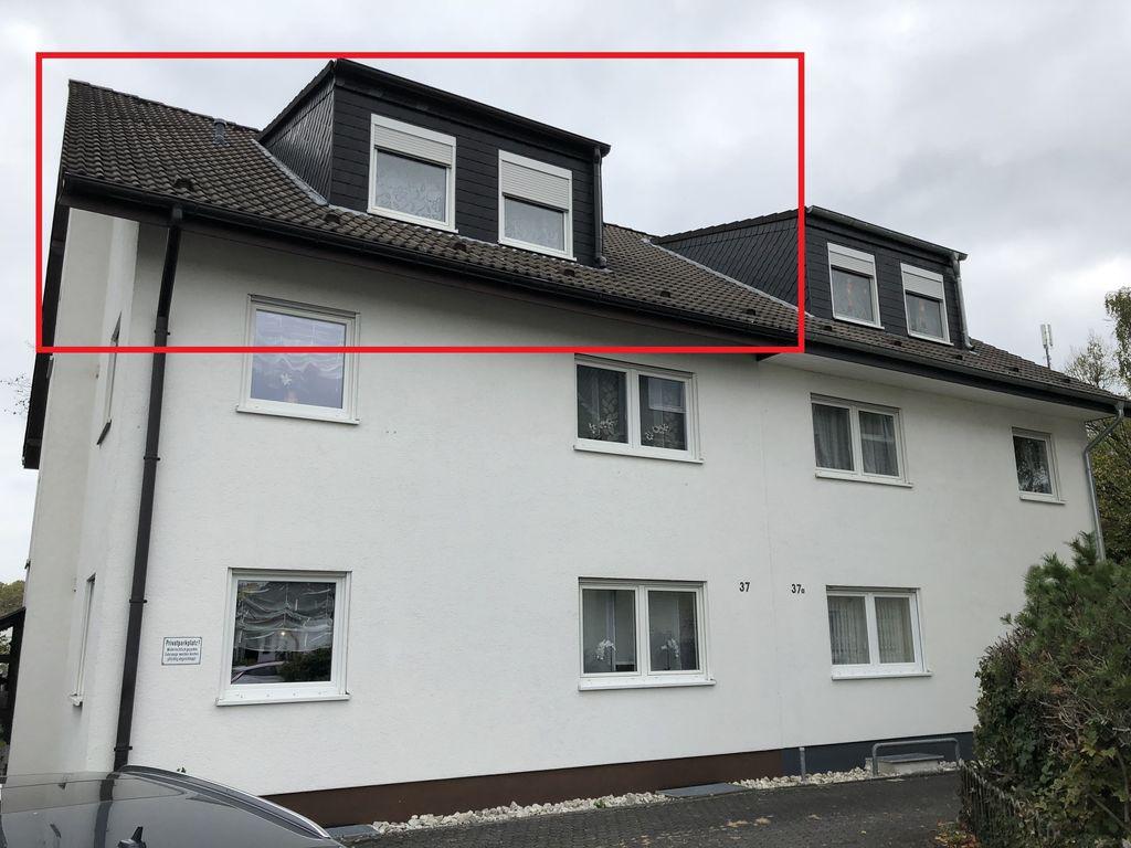 Gem tliche 3 zi dachgeschoss wohnung mit balkon neue for Wohnung mieten siegburg