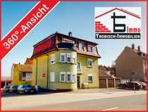 Freistehendes MFH-Stadthaus mit Mansardendach Garagen