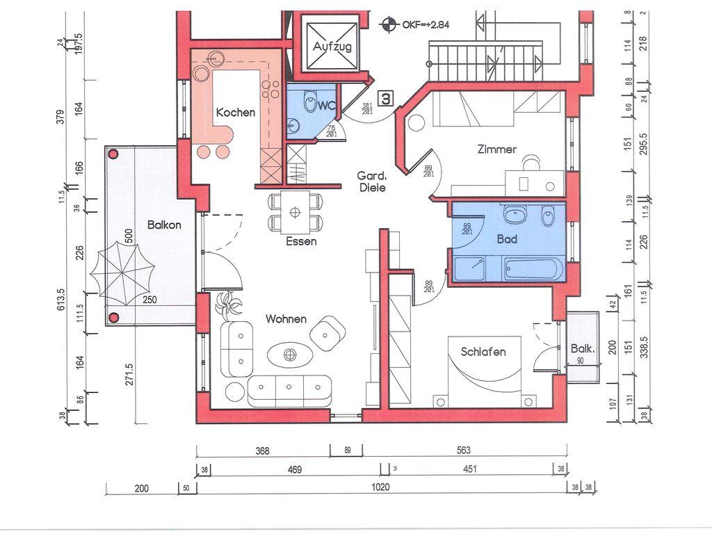 Haus A, ETW 3, 1. OG links