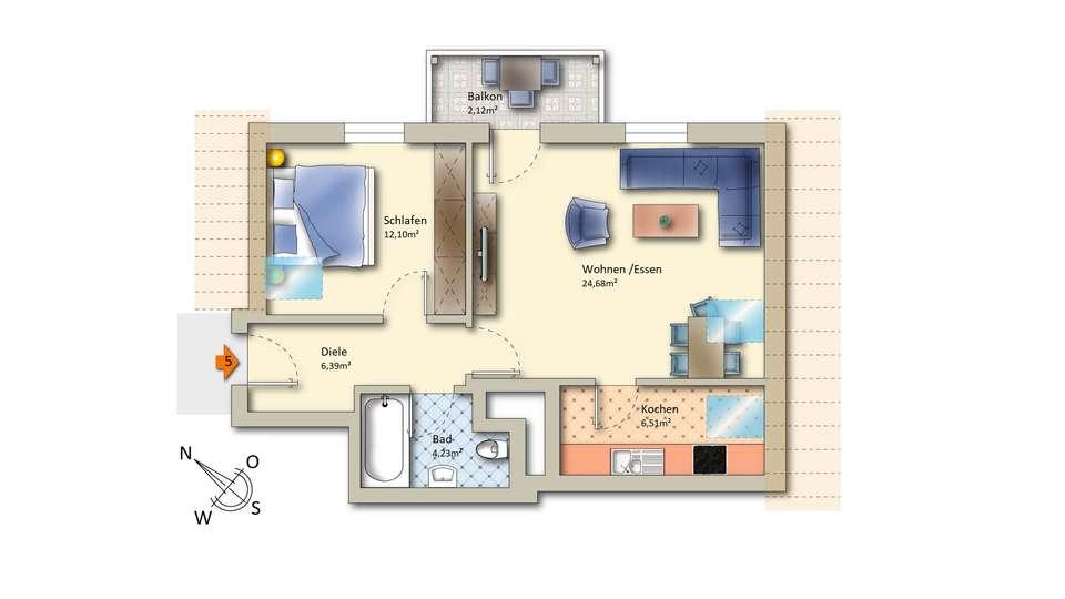 Wohnung 5 im Obergeschoss