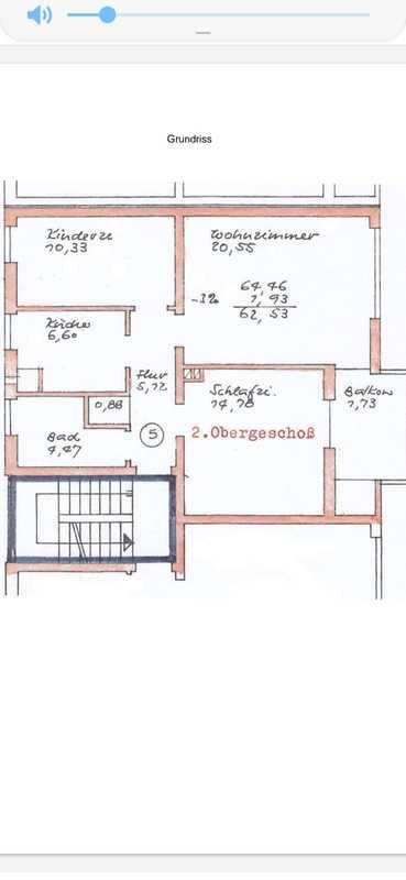 Möbliert Stilvolle, gepflegte 3-Zimmer-Wohnung mit großen Balkon in Erding in Erding