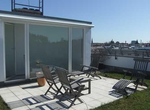 Wohnen über den Dächern von Berlin. Exclusives, großzügiges DG über 2 Etagen mit 3 Terrassen
