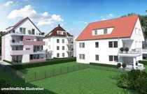 Neubau Stuttgart-Zuffenhausen - Dachgeschosswohnung mit Balkon