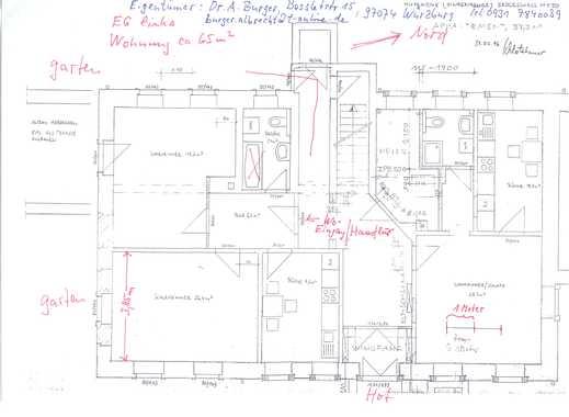 Vollständig renovierte 1,5-Zimmer-EG-Wohnung mit Balkon und EBK in Dohna