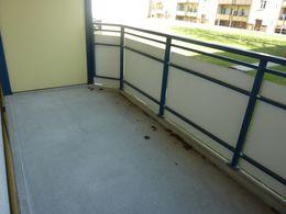 großer Balkon an der Küche