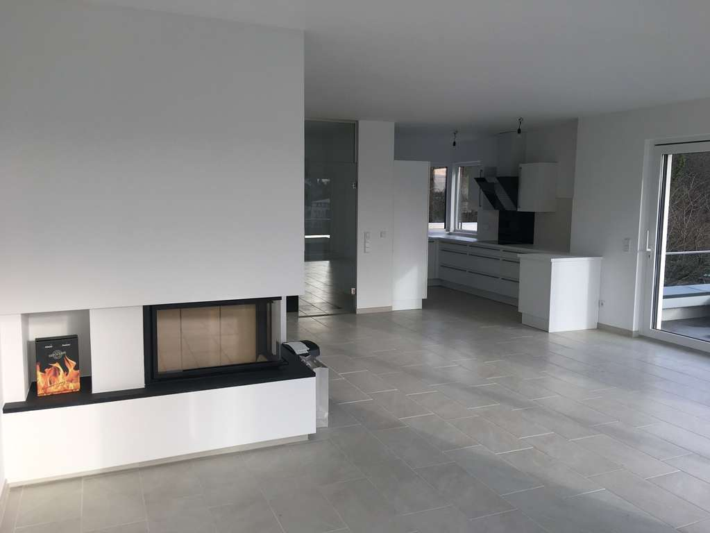 Wohnzimmer EG mit Kamin
