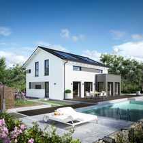 Energieeffizientes modernes Einfamilienhaus mit viel