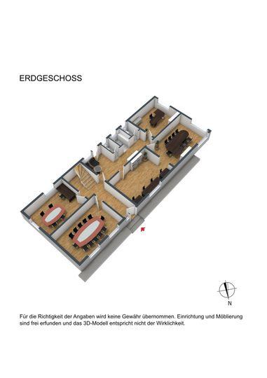 Grundriss EG 3D möbliert