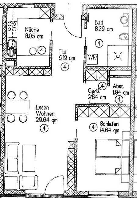 Altersgerecht Wohnen ab 55 Jahren: Neubau-2-Zimmer-Wohnung mit Terrasse**barrierefrei** in Allershausen
