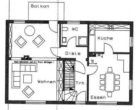 3-Zimmer-Wohnung mit Balkon in Adelsdorf in Adelsdorf