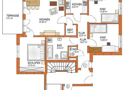 Schöne 4-ZKB im EG Wohnung mit Garten und Terrasse in Königsbrunn - EH 55 - schlüsselfertig