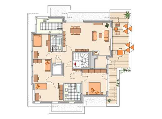 TOLL ! - Diese Dachterrasse müssen Sie gesehen haben! - 5-Zimmer-Wohnung im Staffelgeschoss