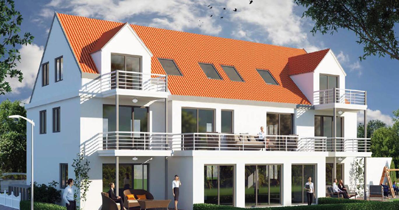 2-Zimmer-Wohnung mit großem Balkon, Neubau (2019) Augsburg Lechhausen in Lechhausen (Augsburg)