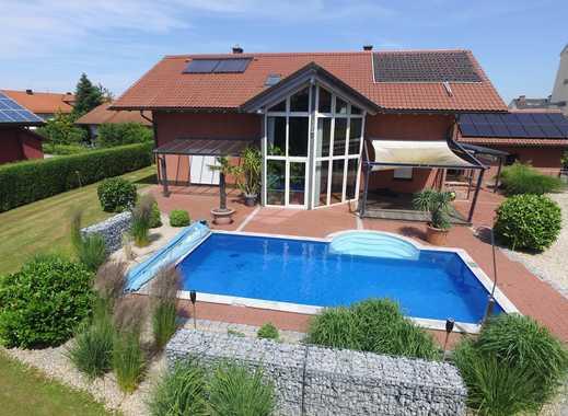 ... luxuriöses modernes EFH + Außen-Pool mit 2 Einliegerwohnungen - 10 Min. zur A94  ...