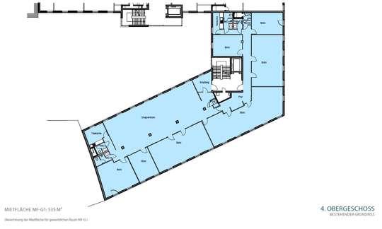Grundriss 4. OG 535 m²