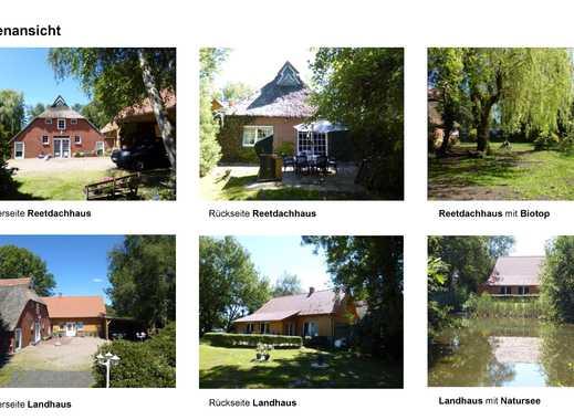 Zwei Wohnhäuser auf einem 3ha Grundstück mit Wald, Natursee & Insel