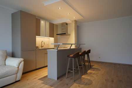 3-Zi.-Wohnung, teilmöbliert mit offener Wohnküche, Balkon und TG-Stellplatz in Milbertshofen (München)