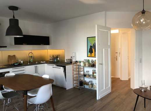 Stilvoll möblierte Wohnung mit Balkon am Rhein und Uniklinik