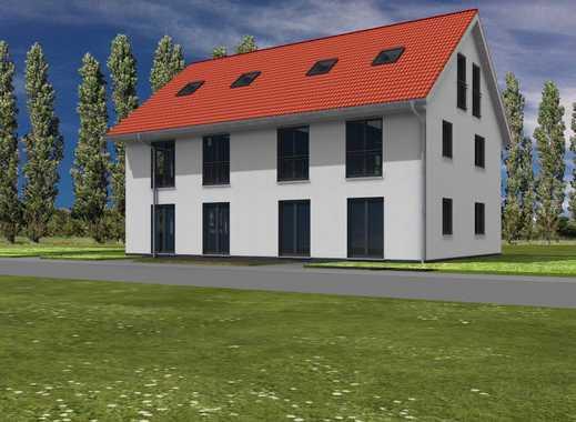 Neubau Doppelhaushälfte in Berlin Biesdorf mit Ausbaureseve.