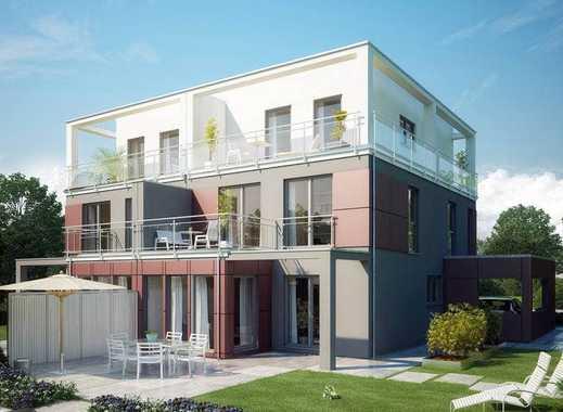 Duisburg Alt - Homberg: modernes Einfamilienhaus mit Staffelgeschoss in ruhiger Grünlage