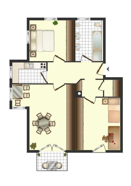 Helle, neue renovierte 3-Zimmer-Wohnung mit Balkon in Odelzhausen