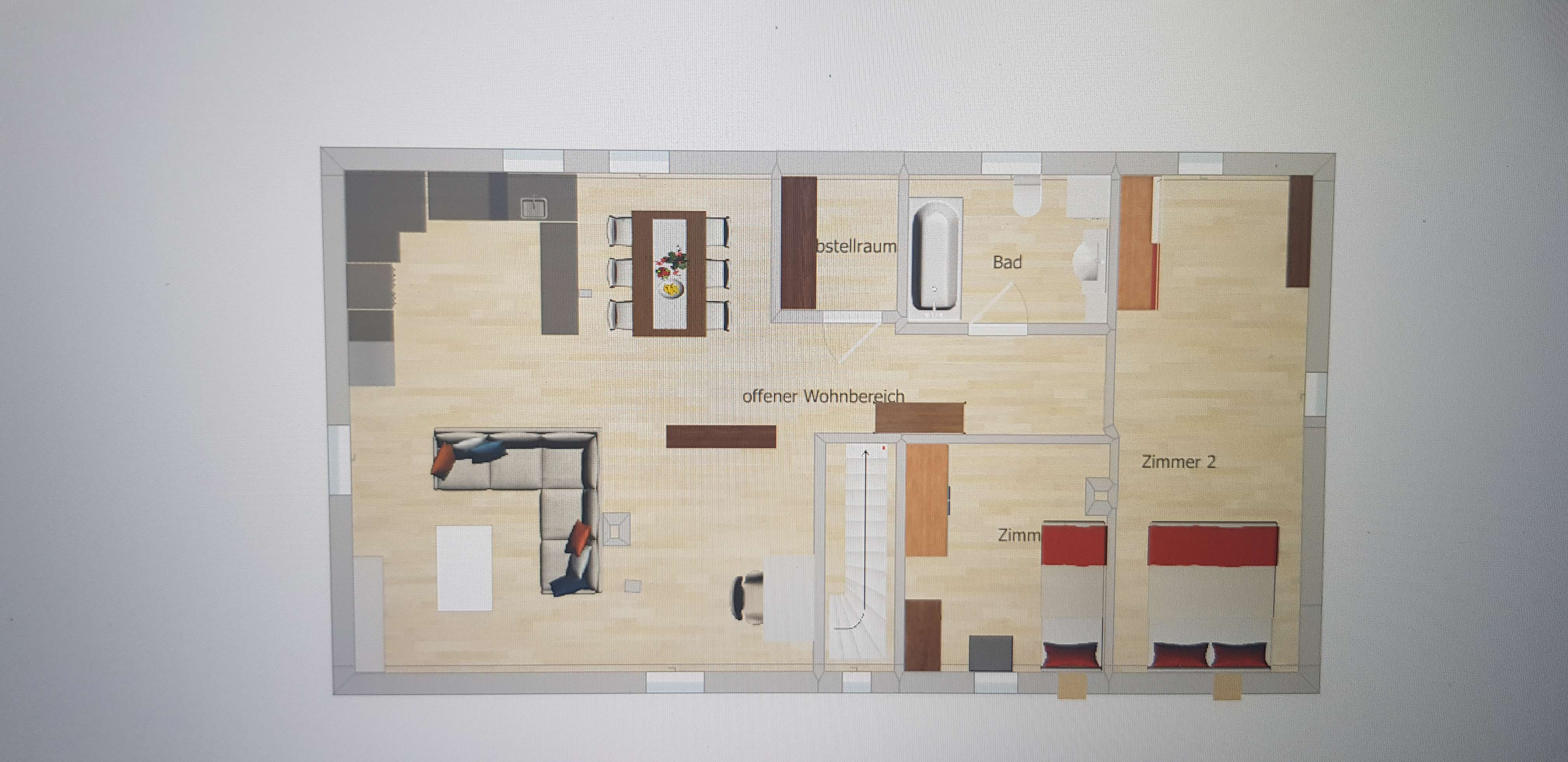 Dachgeschosswohnung, Altstadt Feuchtwangen, Kernsaniert und Erstbezug in
