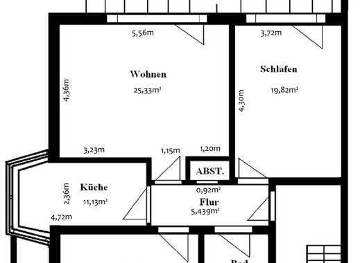 Schöne, geräumige drei Zimmer Wohnung in Hamburg, Rahlstedt