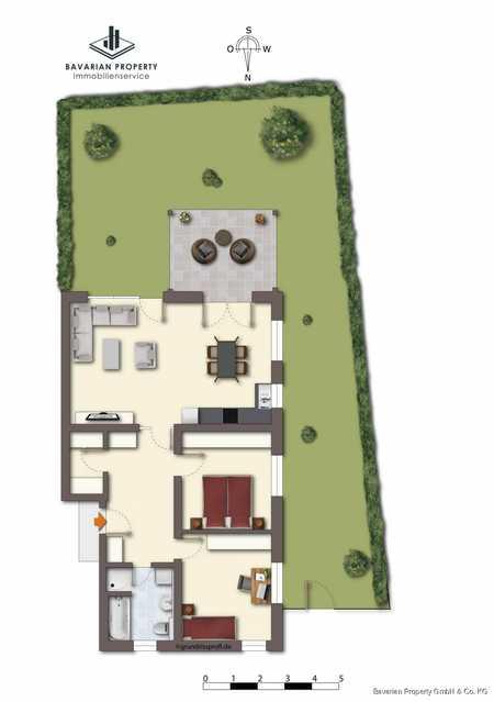 3-Zimmer-Erdgeschosswohnung mit Terrasse und Gartenanteil in Bogen