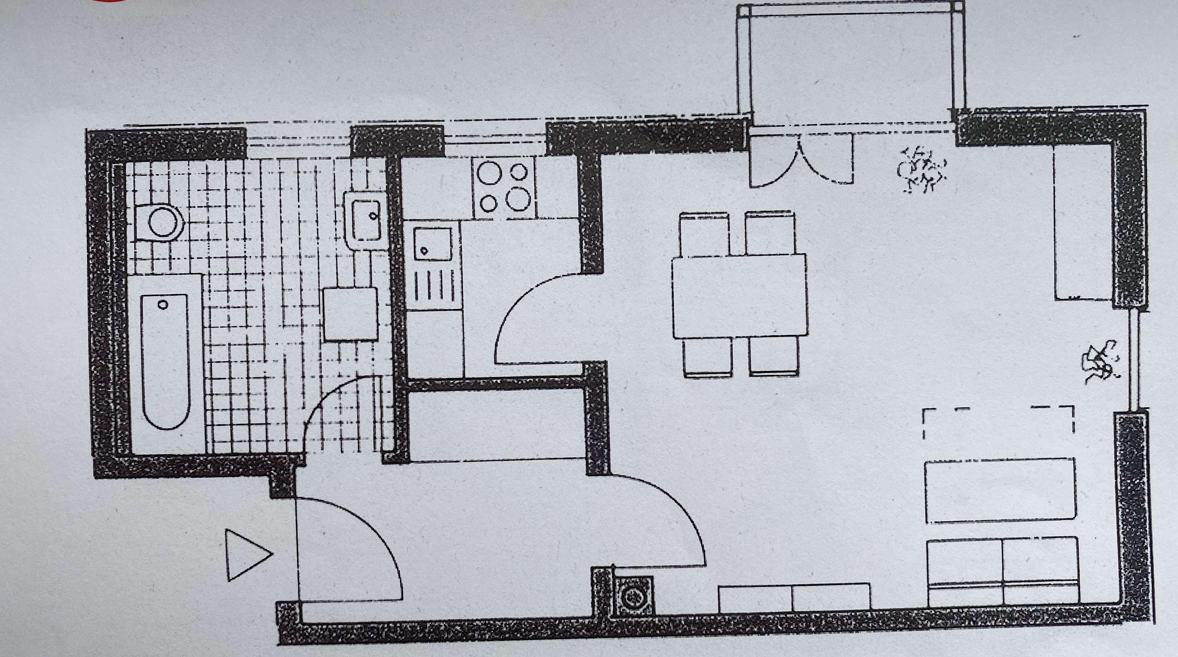 Gepflegte 1-Zimmer-Wohnung mit Balkon und EBK in Deggendorf in Deggendorf