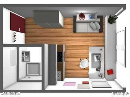 Nähe UNIKLINIK: neuwertige 1-Zimmer-Wohnung in guter Lage mit schöner Ausstattung in Kriegshaber (Augsburg)