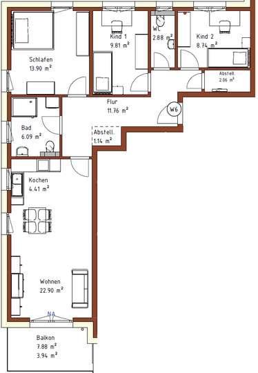 Erstbezug: 4-Zimmer-Neubau-Wohnung mit Balkon und Einbauküche in Weetzen