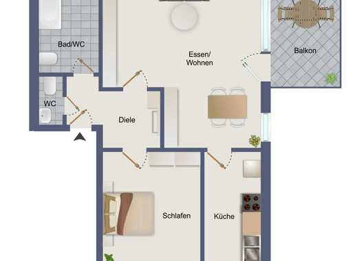 Erstbezug - Moderne freundliche Wohnung mit Stellplatz in Zündorf