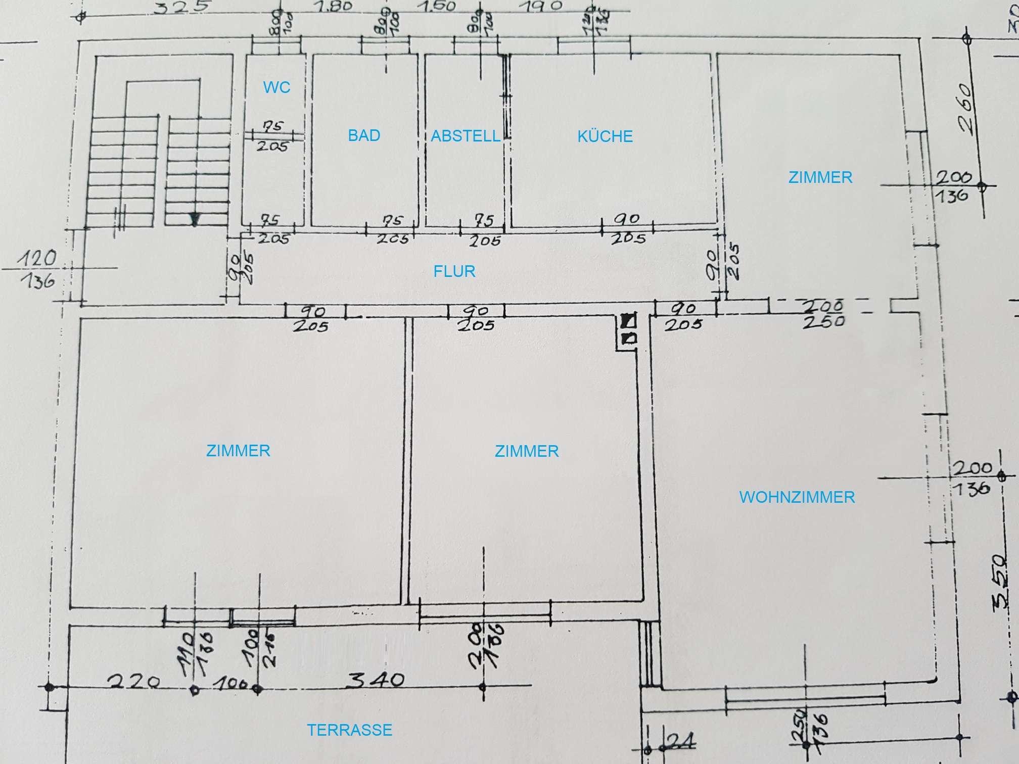 4-Zimmer-Wohnung mit Terrasse und EBK in Aresing in Aresing