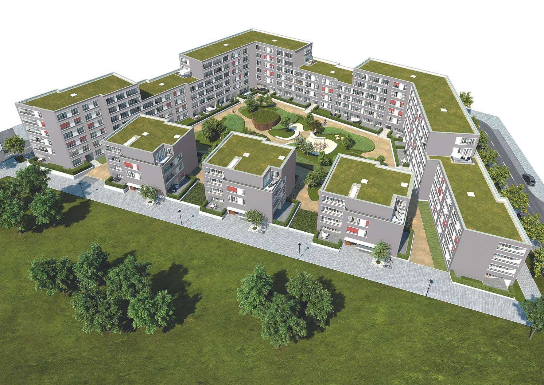 PASING-OBERMENZING (NEUBAU-ERSTBEZUG): 3-Zimmer-Terrassenwohnung zum Innenhof in Obermenzing (München)