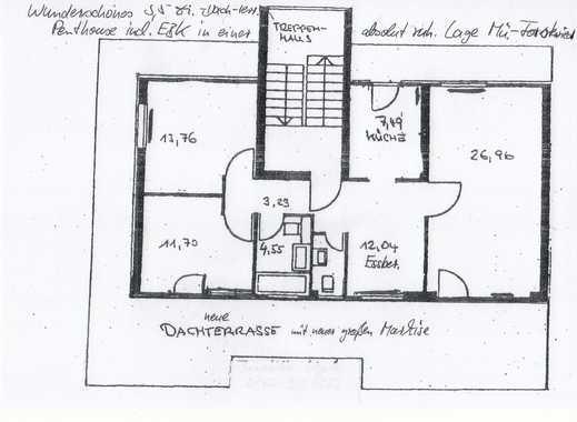langfristig, schöne 3,5 Zimmer Dachterrassenwohnung in München, Forstenried