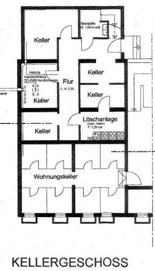 Grundriss Keller<