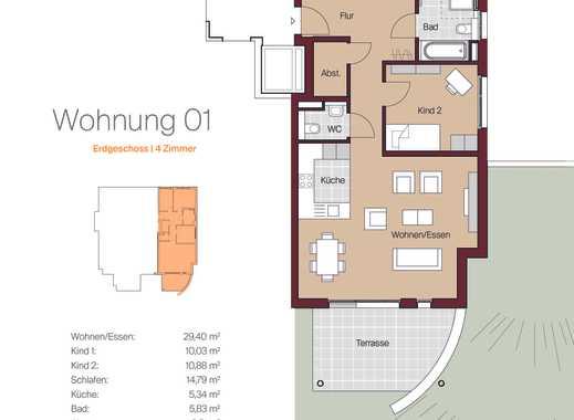 4 Zimmer Erdgeschoss Wohnung mit Gartenanteil und Terrasse in Metzingen Stadtmitte
