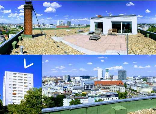 Penthouse auf Hochhaus (!) | Dachterrasse | Kamin | MÖBLIERT | ENGLISH SEE BELOW