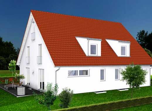 DHH2: Doppelhaushälfte mit Keller * großes Grundstück * ruhige Lage * S-Bahn (S2) im Ort