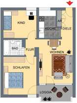 Junges Wohnen Attraktive 64 m²