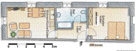 Neuwertige 2-Zi-Wohnung in zentraler Lage Deggendorfs in Deggendorf